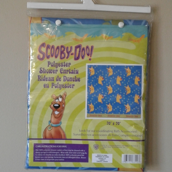 Scooby-Doo! Shower curtain.